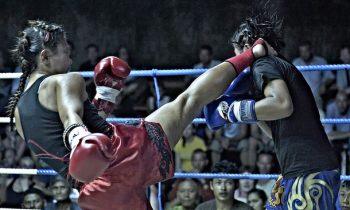 boxe thai coup de pied femme